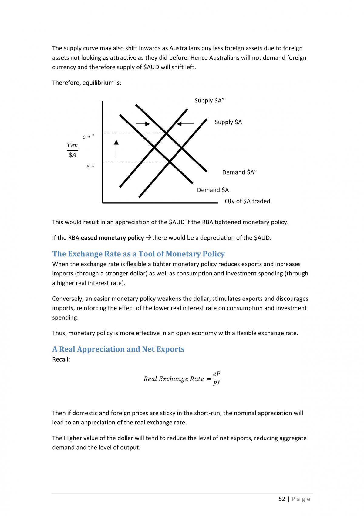 ECON1102 Macro Notes  - Page 52