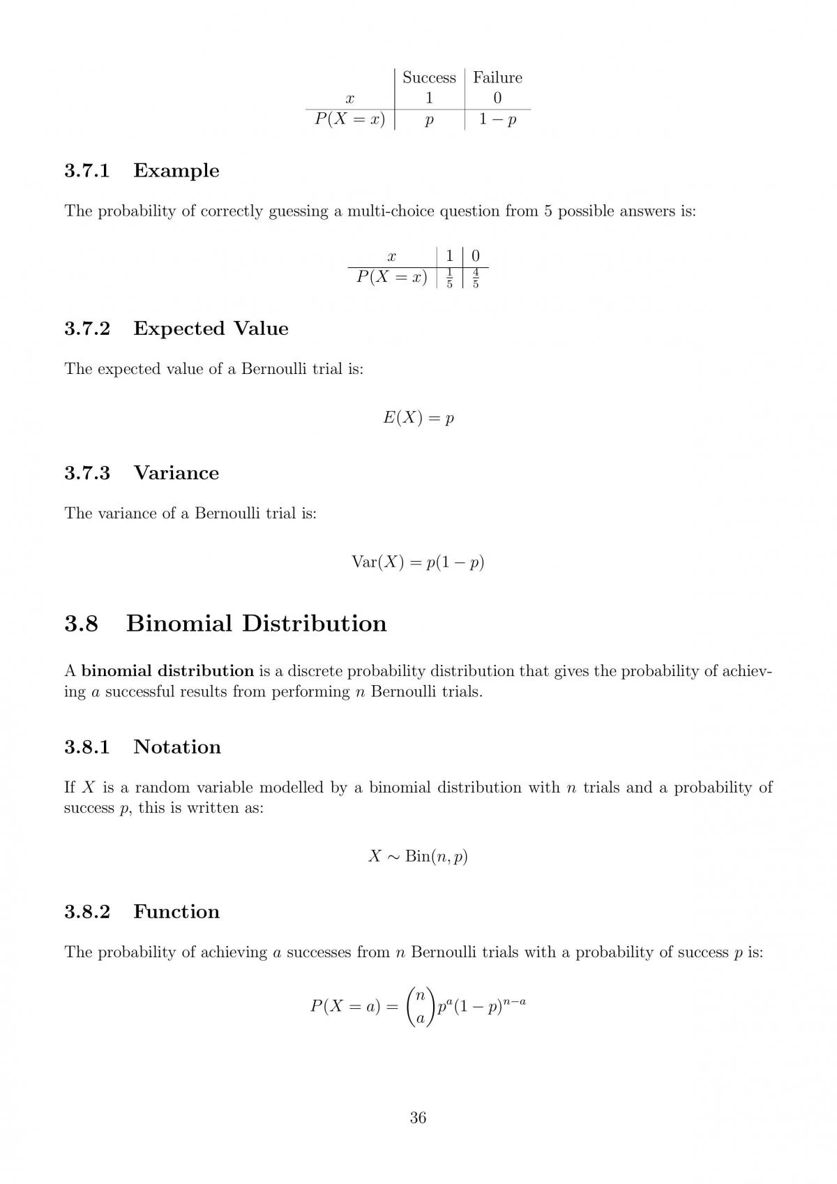Mathematical Methods Comprehensive Notes - Page 36