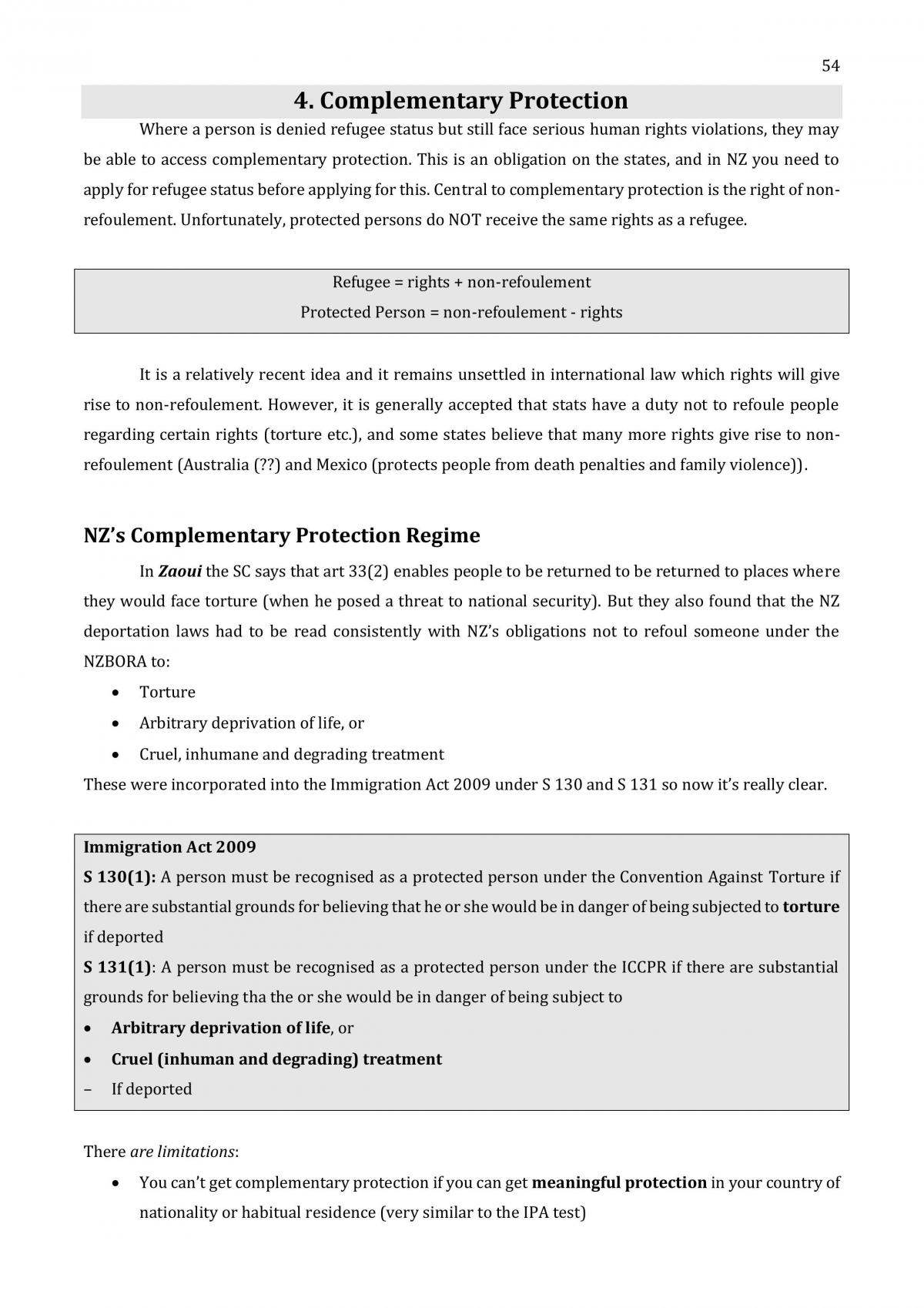 Refugee Law Full Course Notes - Page 55
