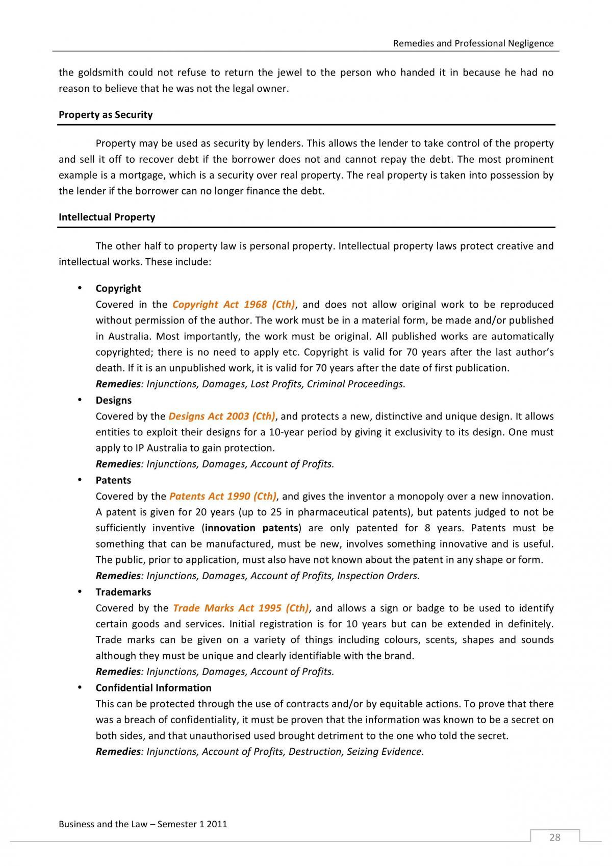 Foundations of Law - LEGL1001 - Page 27