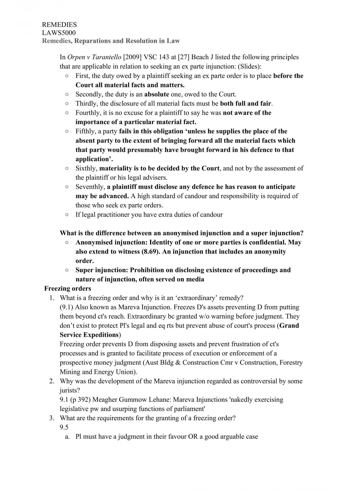 Remedies in Law Revisiable Notes  - Page 35