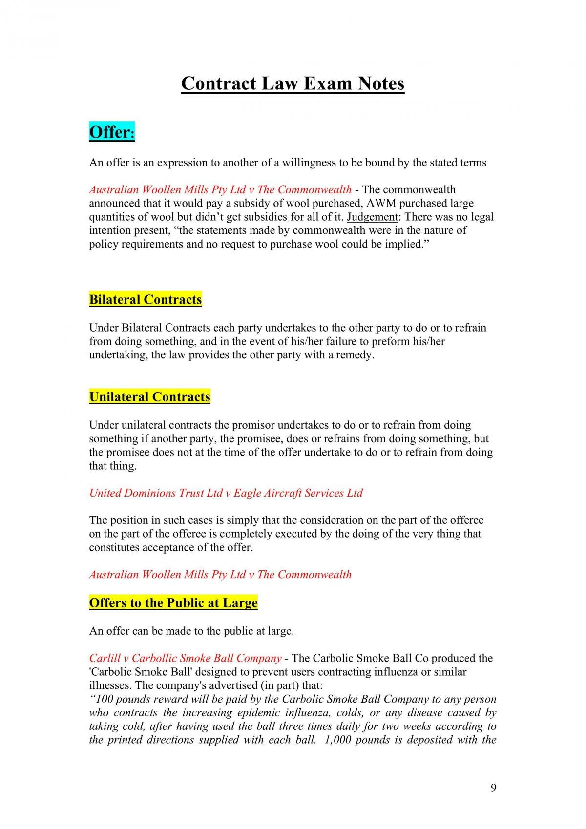 Complete Contracts Notes  - Page 9